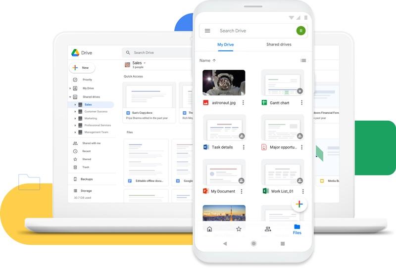 google drive usage